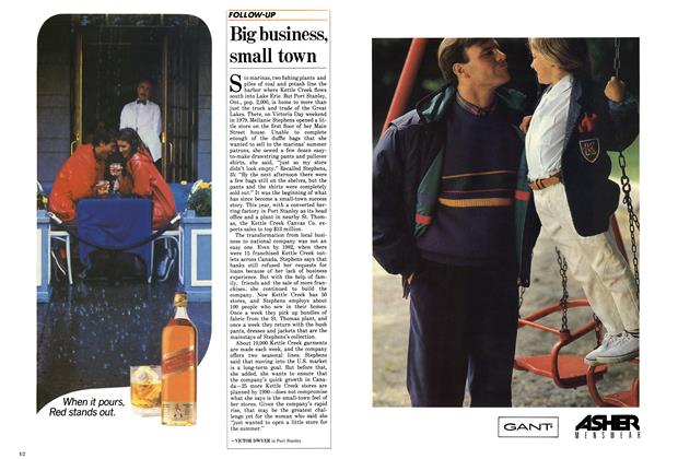 Article Preview: Big business, small town, September 1987 | Maclean's