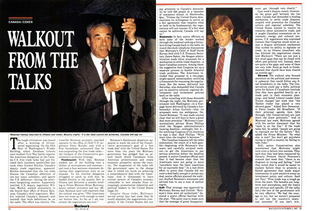 Article Preview: WALKOUT FROM THE TALKS, October 1987 | Maclean's