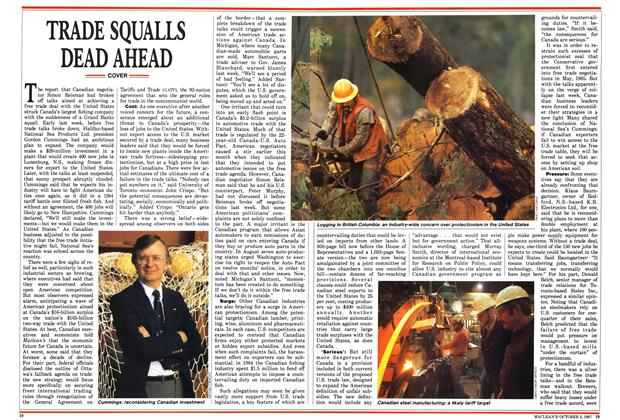 Article Preview: TRADE SQUALLS DEAD AHEAD, October 1987 | Maclean's