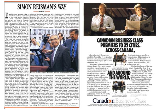 Article Preview: SIMON REISMAN'S WAY, October 1987 | Maclean's