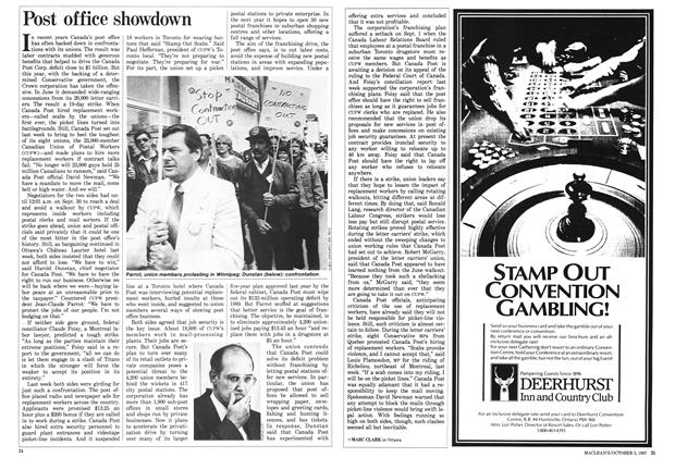 Article Preview: Post office showdown, October 1987 | Maclean's