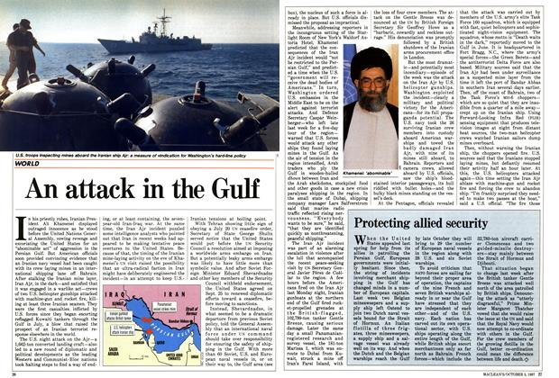 Article Preview: An attack in the Gulf, October 1987 | Maclean's