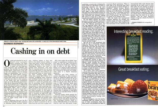Article Preview: Cashing in on debt, October 1987 | Maclean's