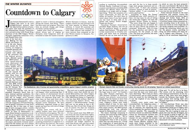Article Preview: Countdown to Calgary, October 1987 | Maclean's
