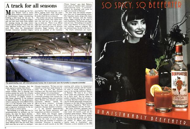Article Preview: A track for all seasons, October 1987 | Maclean's