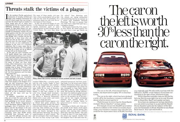 Article Preview: Threats stalk the victims of a plague, October 1987 | Maclean's
