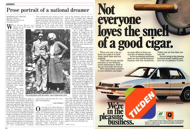 Article Preview: Prose portrait of a national dreamer, October 1987 | Maclean's