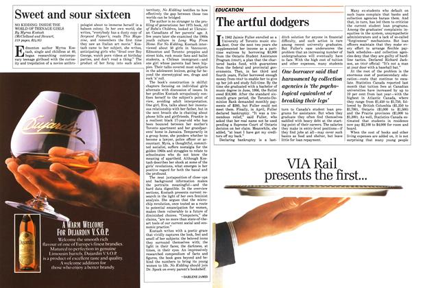 Article Preview: The artful dodgers, October 1987 | Maclean's