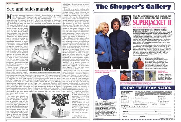 Article Preview: Sex and salesmanship, October 1987 | Maclean's