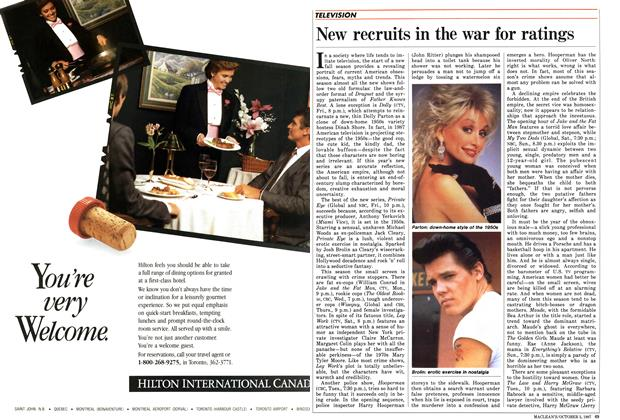 Article Preview: New recruits in the war for ratings, October 1987 | Maclean's