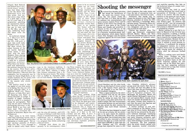 Article Preview: Shooting the messenger, October 1987 | Maclean's