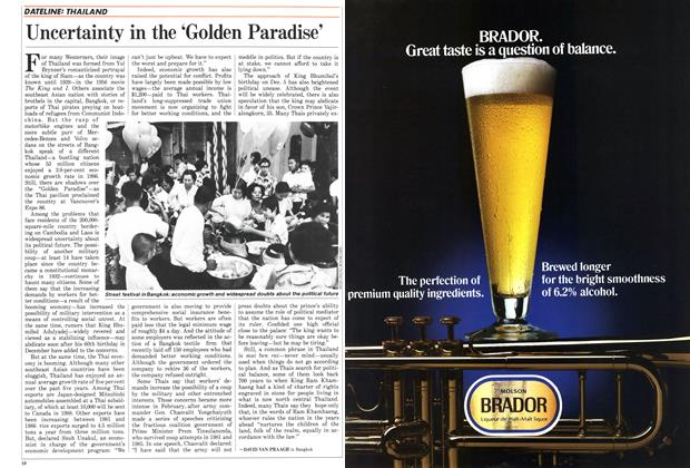 Article Preview: Uncertainty in the 'Golden Paradise', October 1987 | Maclean's