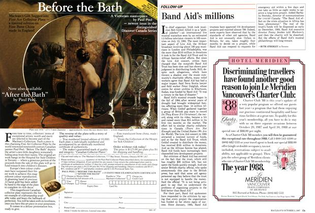 Article Preview: Band Aid's millions, October 1987 | Maclean's