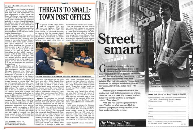 Article Preview: THREATS TO SMALL-TOWN POST OFFICES, October 1987 | Maclean's