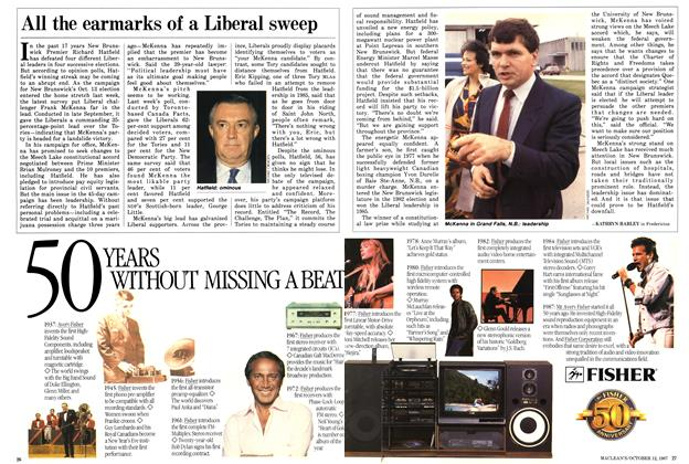Article Preview: All the earmarks of a Liberal sweep, October 1987 | Maclean's