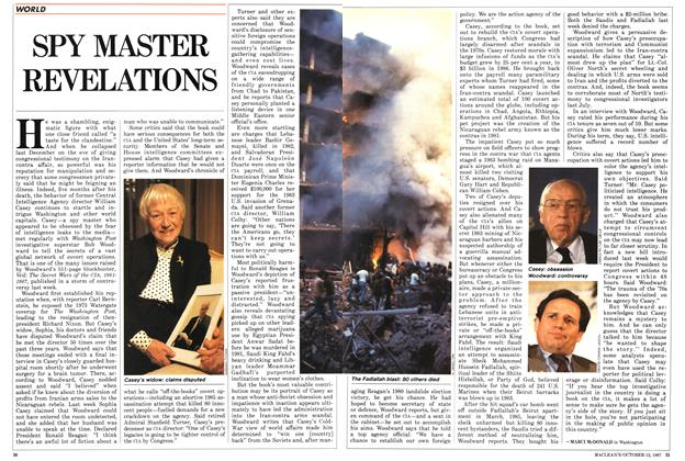 Article Preview: SPY MASTER REVELATIONS, October 1987 | Maclean's