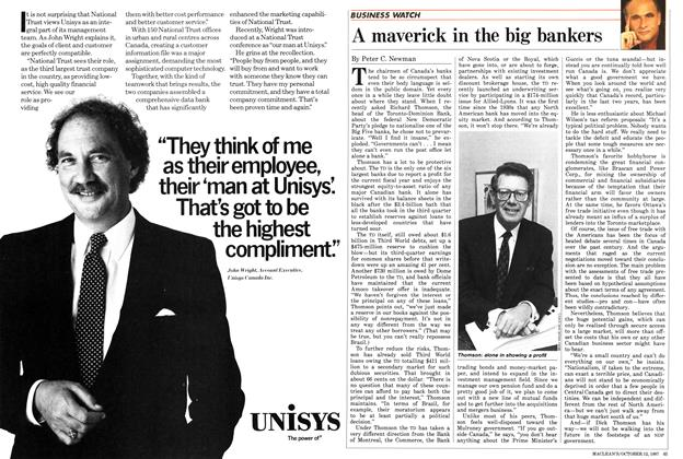 Article Preview: A maverick in the big bankers, October 1987 | Maclean's