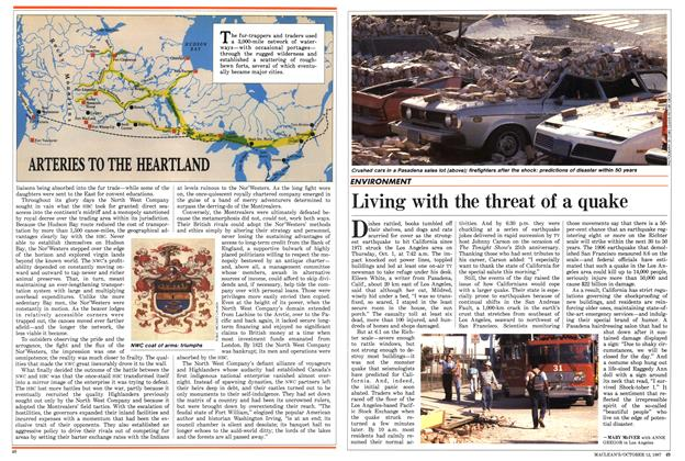 Article Preview: Living with the threat of a quake, October 1987 | Maclean's