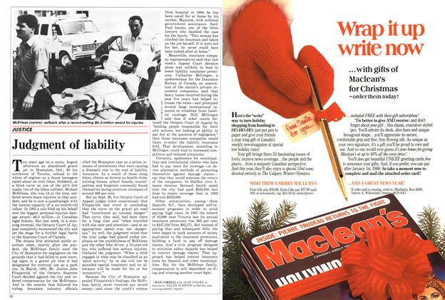 Article Preview: Judgment of liability, October 1987 | Maclean's