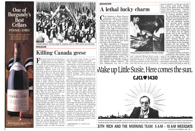 Article Preview: A lethal lucky charm, October 1987 | Maclean's
