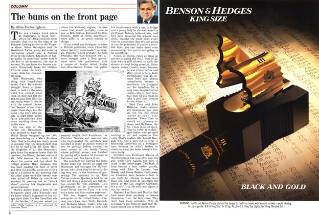 Article Preview: The bums on the front page, October 1987   Maclean's