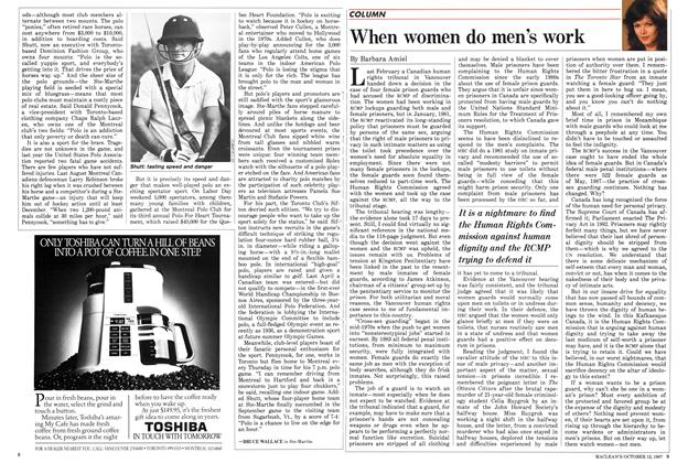 Article Preview: When women do men's work, October 1987 | Maclean's