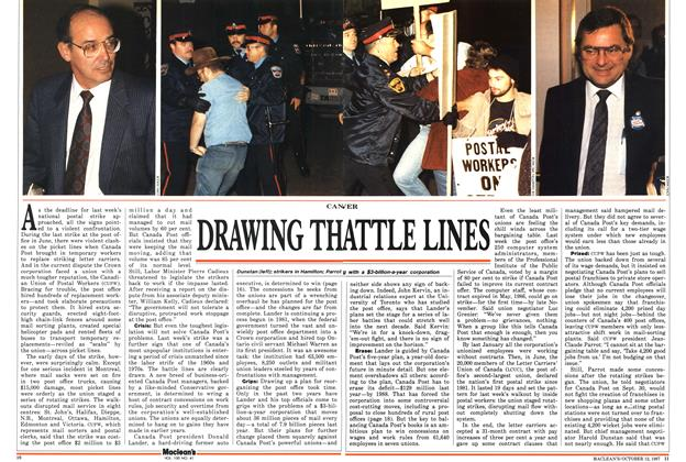 Article Preview: DRAWING THE BATTLE LINES, October 1987 | Maclean's