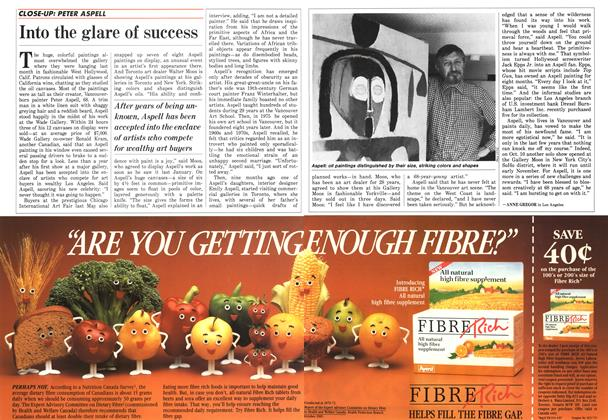 Article Preview: Into the glare of success, October 1987 | Maclean's
