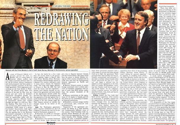 Article Preview: REDRAWING THE NATION, October 1987 | Maclean's