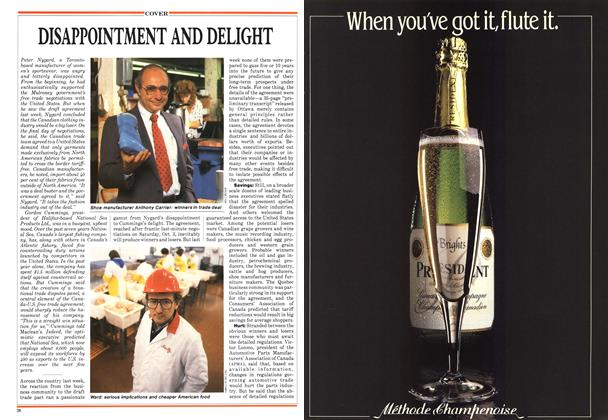 Article Preview: DISAPPOINTMENT AND DELIGHT, October 1987 | Maclean's