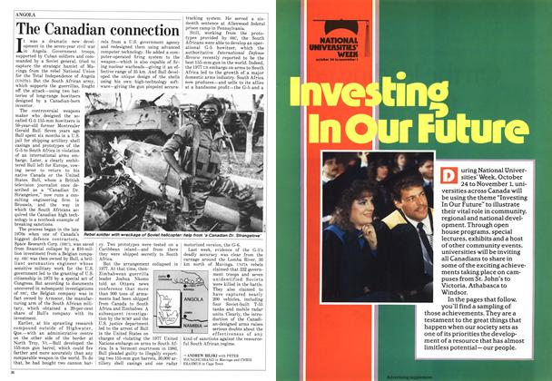 Article Preview: The Canadian connection, October 1987 | Maclean's