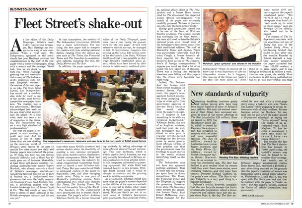 Article Preview: Fleet Street's shake-out, October 1987 | Maclean's