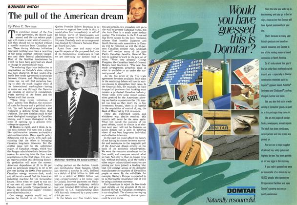 Article Preview: The pull of the American dream, October 1987 | Maclean's