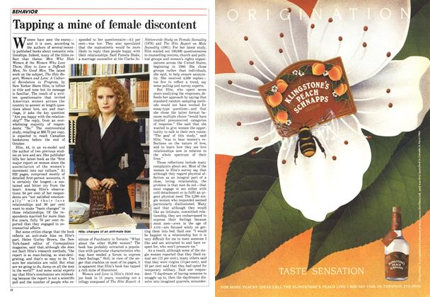 Article Preview: Tapping a mine of female discontent, October 1987 | Maclean's