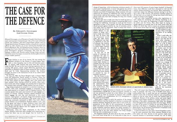 Article Preview: THE CASE FOR THE DEFENCE, October 1987 | Maclean's