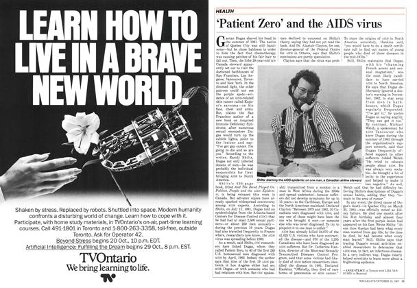 Article Preview: 'Patient Zero' and the AIDS virus, October 1987 | Maclean's