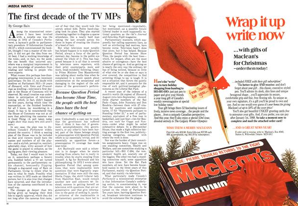 Article Preview: The first decade of the TV MPs, October 1987 | Maclean's