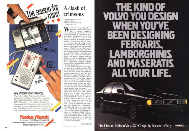 Article Preview: A clash of crimsons, October 1987 | Maclean's
