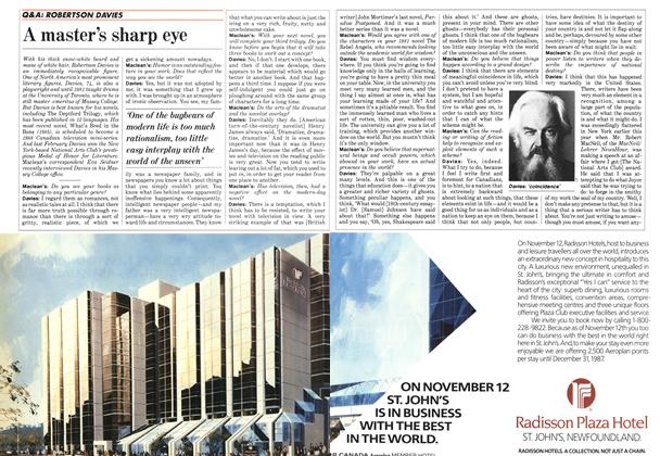 Article Preview: A master's sharp eye, October 1987 | Maclean's