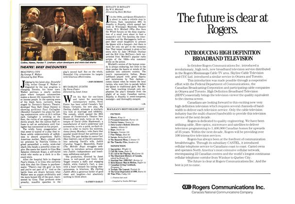 Article Preview: BRIEF ENCOUNTERS, October 1987   Maclean's