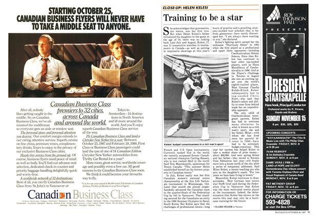 Article Preview: Training to be a star, October 1987 | Maclean's