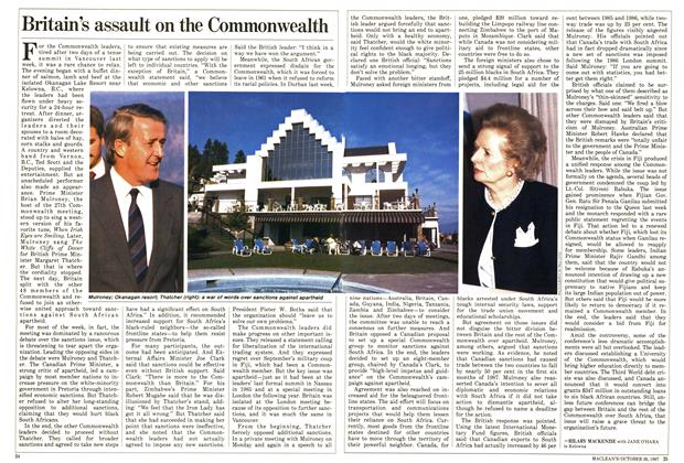 Article Preview: Britain's assault on the Commonwealth, October 1987 | Maclean's