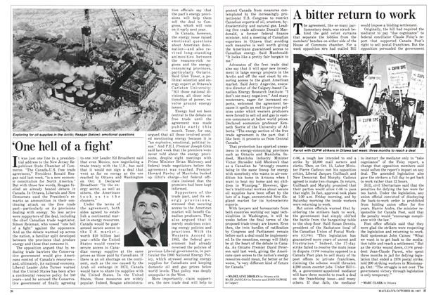 Article Preview: 'One hell of a fight', October 1987 | Maclean's