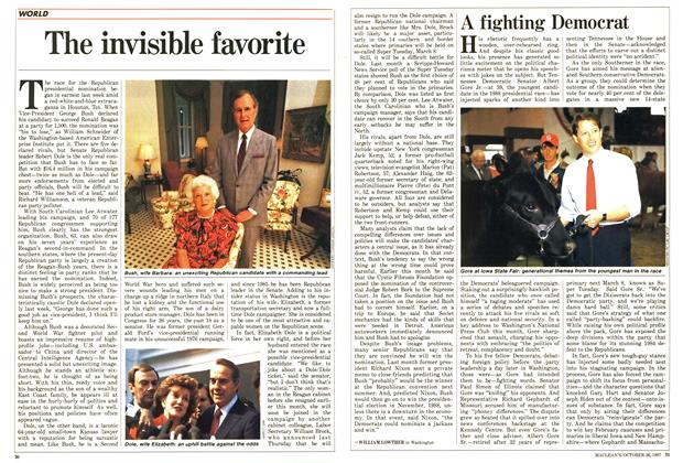 Article Preview: The invisible favorite, October 1987 | Maclean's