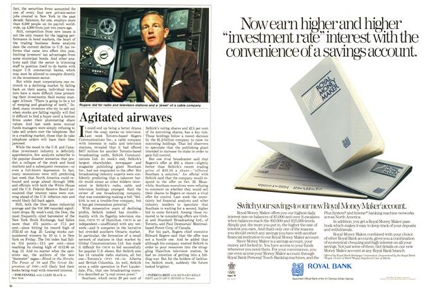 Article Preview: Agitated airwaves, October 1987 | Maclean's