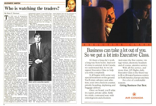 Article Preview: Who is watching the traders?, October 1987 | Maclean's