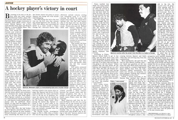 Article Preview: A hockey player's victory in court, October 1987 | Maclean's