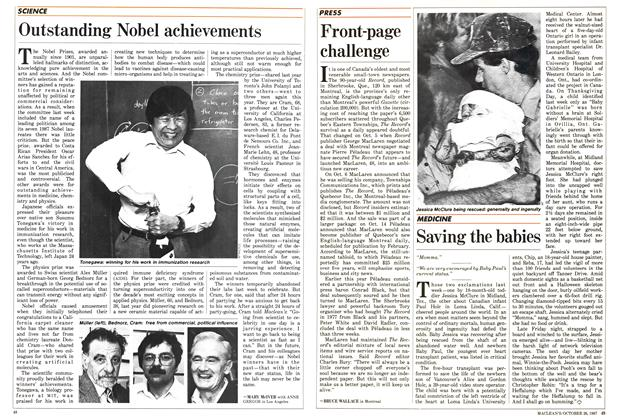 Article Preview: Outstanding Nobel achievements, October 1987 | Maclean's
