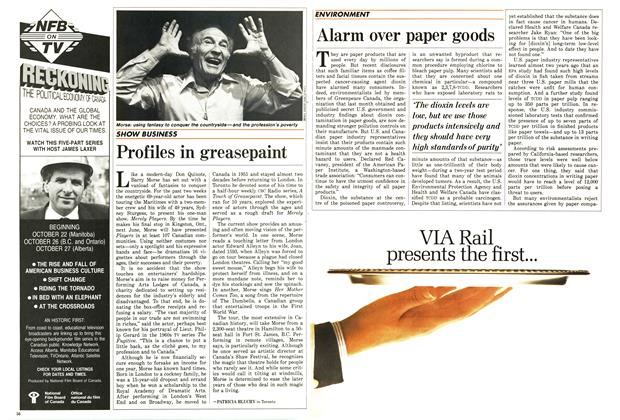 Article Preview: Profiles in greasepaint, October 1987 | Maclean's