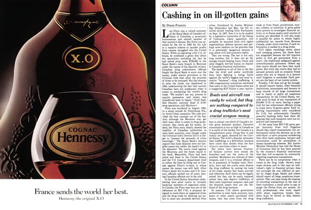 Article Preview: Cashing in on ill-gotten gains, November 1987 | Maclean's